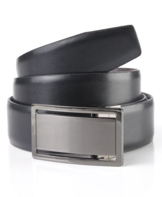 Leather Dress Plaque Belt