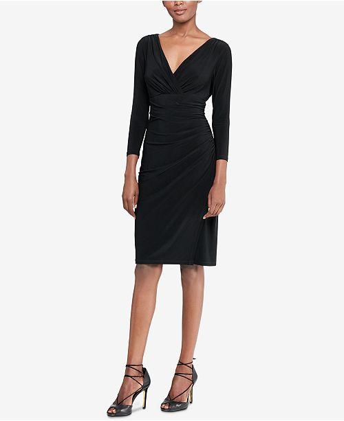 Macys Outlet Nj: Lauren Ralph Lauren Jersey Surplice Dress & Reviews