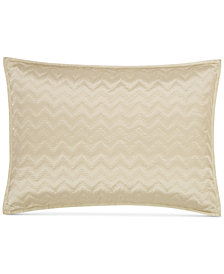Hotel Collection Distressed Chevron Quilted Standard Sham, Created for Macy's
