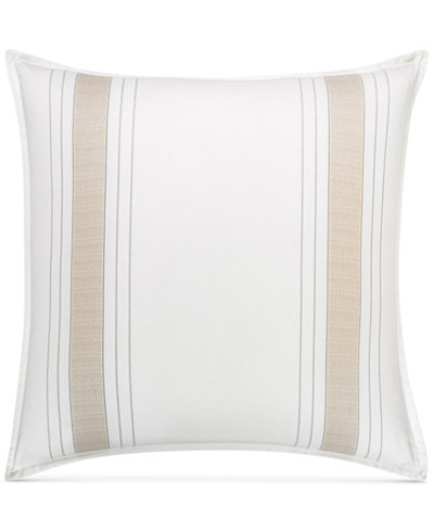 CLOSEOUT! Hotel Collection Woven Accent European Sham, Created for Macy's