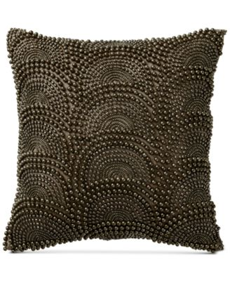 "Exhale Taupe 12"" Square Decorative Pillow"