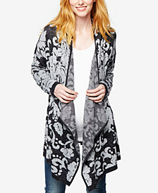 A Pea In The Pod Maternity Open-Front Jacquard Cardigan