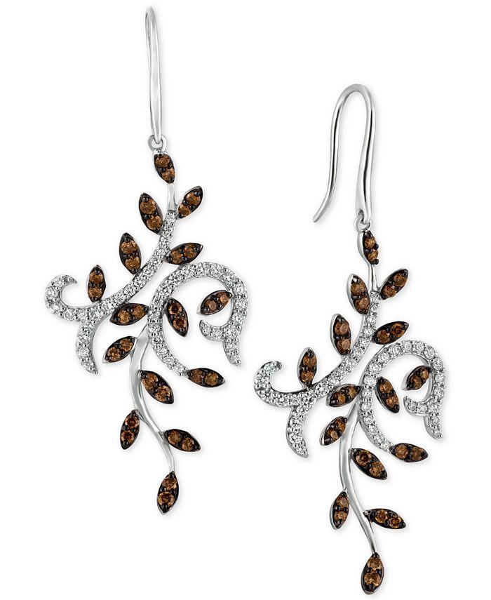 Le Vian - Diamond Vine Drop Earrings (1-1/2 ct. t.w.) in 14k White Gold
