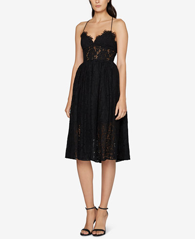 Fame And Partners Lace Tie Back Dress Dresses Women