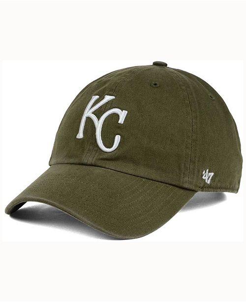 '47 Brand Kansas City Royals Olive White Clean Up Cap