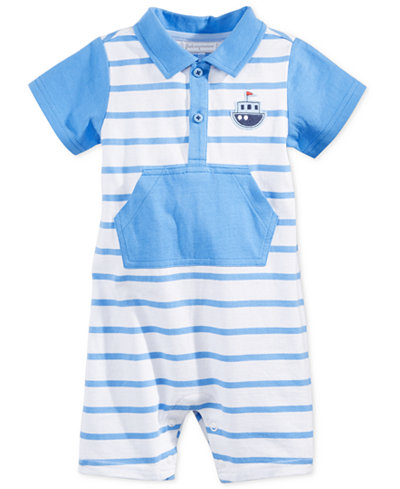 First Impressions Striped Boat Romper, Baby Boys (0-24 months), Only at Macy's