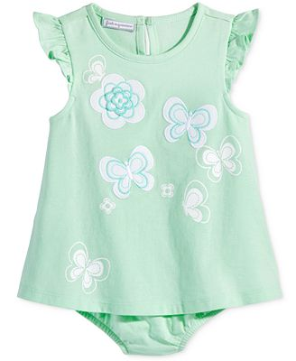 First Impressions Butterflies Skirted Romper, Baby Girls (0-24 months), Only at Macy's