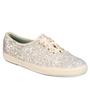 KATE SPADE KEDS FOR KATE SPADE NEW YORK GLITTER LACE-UP SNEAKERS