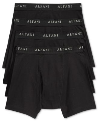 Image of Alfani Men's 4 Pack. Cotton Boxer Briefs, Only at Macy's