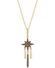 Le Vian Chocolatier® Diamond Star Pendant Necklace (5/8 ct. t.w.) in 14k Gold