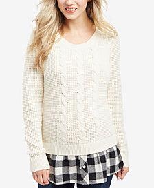 Motherhood Maternity Cable-Knit Sweater
