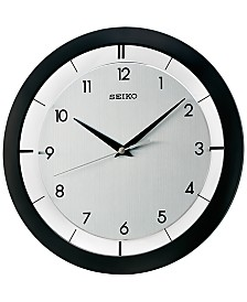 stylist and luxury giant clocks. Seiko Black Resin Wall Clock large wall clocks  Shop for and Buy Online Macy s