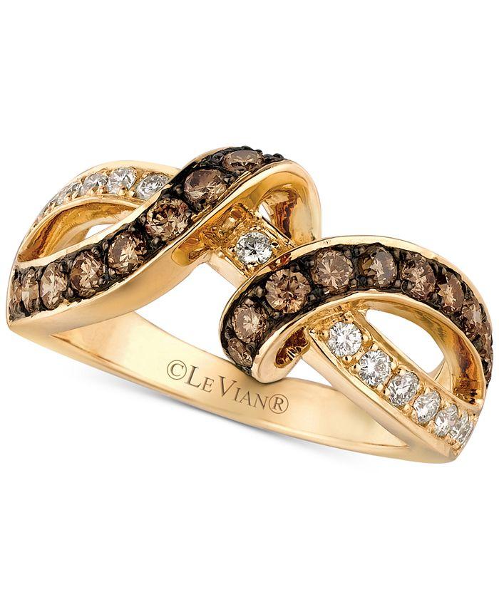 Le Vian - Diamond Interlocking Ring (7/8 ct. t.w.) in 14k Gold