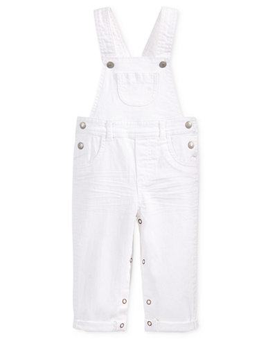 First Impressions Embroidered Denim Overall, Baby Girls (0-24 months), Only at Macy's