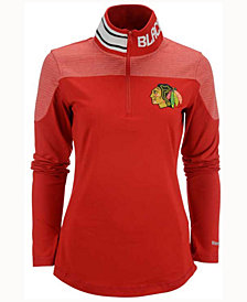 Reebok Women's Chicago Blackhawks Performance Quarter-Zip Pullover