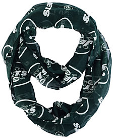 Forever Collectibles New York Jets All Over Logo Infinity Wrap Scarf