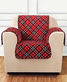 Holiday Motifs Quilted Chair Slipcover