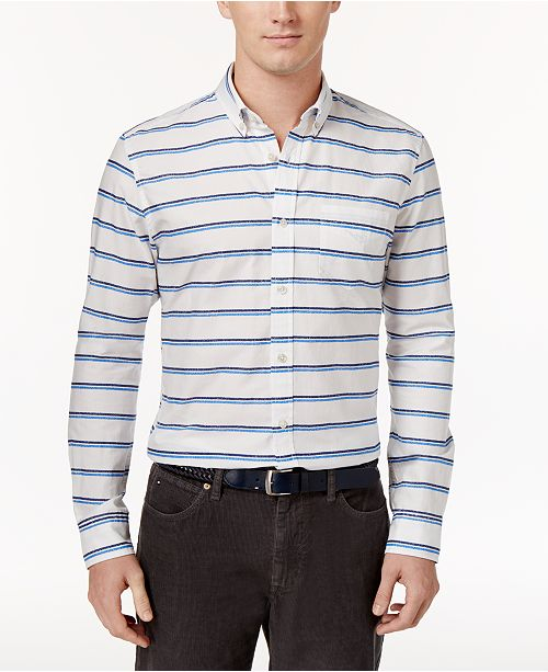 Tommy Hilfiger Men's Crayon Striped Shirt, Created for Macy's