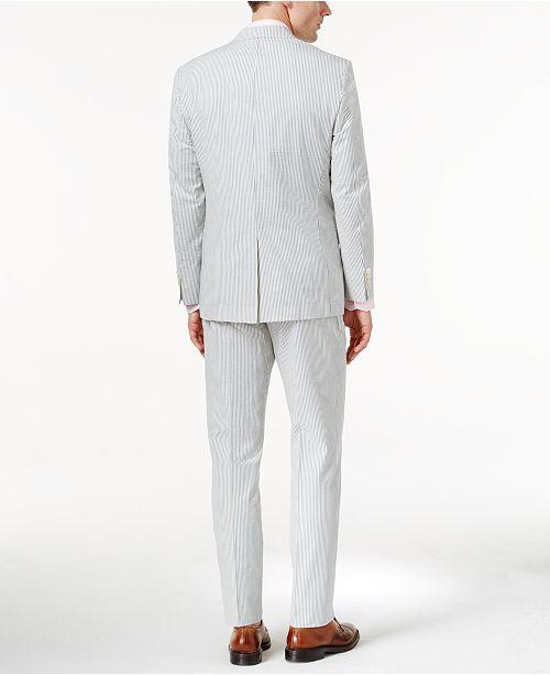 5cba701c8 ... Lauren Ralph Lauren Men s Blue Seersucker Ultraflex Classic-Fit Suit ...