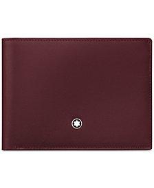 Montblanc Men's Meisterstück Burgundy Leather 6 Pocket Wallet 114543