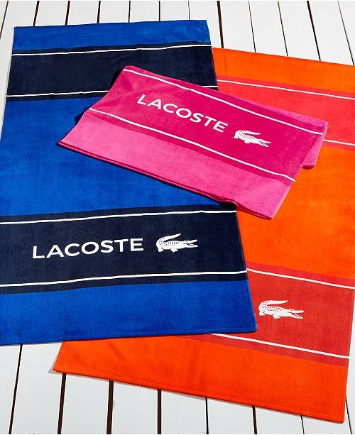 Lacoste Towels Clearance: Lacoste CLOSEOUT! Blocks Beach Towel