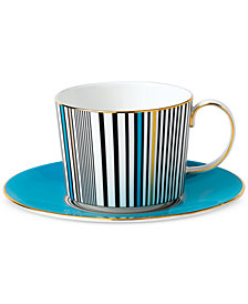 Wedgwood Vibrance Collection Turquoise Teacup & Saucer Set