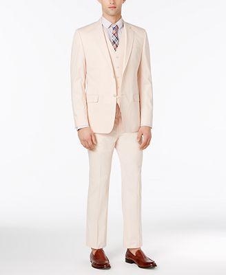 Lauren Ralph Lauren Men's Solid Pink Slim-Fit Vested Suit - Suits ...