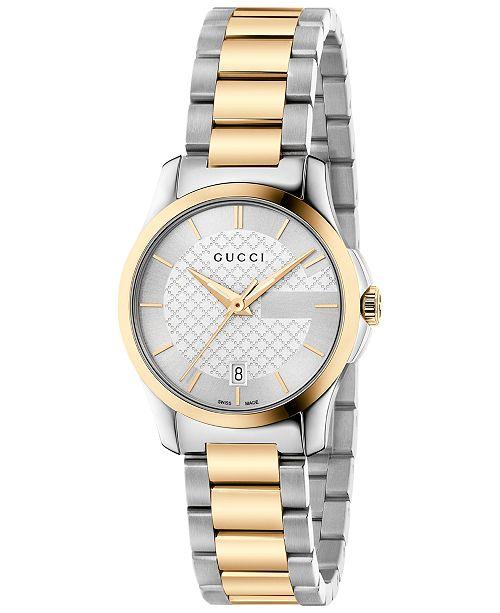 0ab2940c421 ... Gucci Women s Swiss G-Timeless Two-Tone PVD Stainless Steel Bracelet  Watch 27mm YA126563 ...