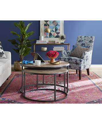 Monterey Coffee Table Round Nesting Furniture Macy S