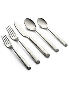 Cambridge Elsa Mirror Hammered 20-Pc. Flatware Set