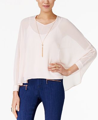 Thalia Sodi Dolman-Sleeve Necklace Top, Only at Macy's