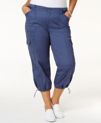 Image of Style & Co Plus Size Capri Cargo Pants, Only at Macy's