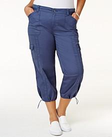 Plus Size Capri Cargo Pants, Created for Macy's