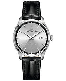 Hamilton Men's Swiss Jazzmaster Black Leather Strap Watch 40mm H32451751