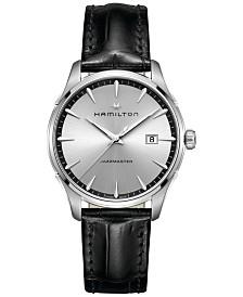 Hamilton Men's Swiss Jazzmaster Black Leather Strap Watch 40mm H32451751