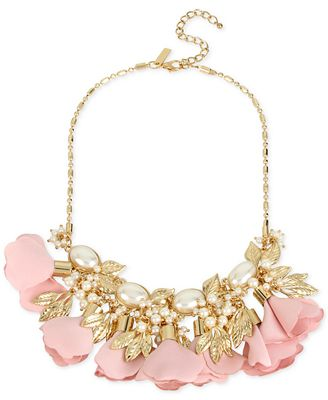 M. Haskell for INC International Concepts Gold-Tone Imitation Pearl Flower Statement Necklace, Only at Macy's