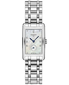 Longines Women's Swiss Dolcevita Stainless Steel Bracelet Watch 23x37mm L55124876