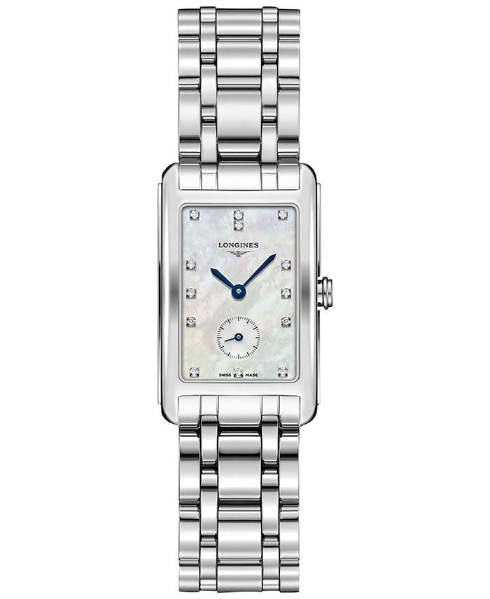 Longines - Women's Swiss Dolcevita Diamond Accent Stainless Steel Bracelet Watch 23x37mm L55124876