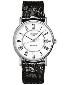 Men's Swiss Automatic Le Grande Classique Black Leather Strap Watch 38mm L49214112
