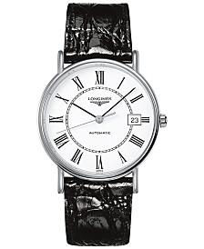 Longines Men's Swiss Automatic Le Grande Classique Black Leather Strap Watch 38mm L49214112