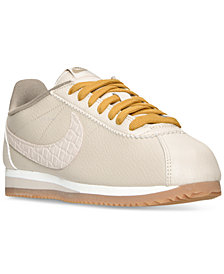 Nike Women's Cortez Leather Lux Casual Sneakers from Finish Line