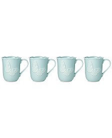 Lenox Butterfly Meadow Carved Collection 4-Pc. Mug Set