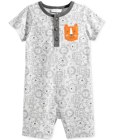 First Impressions Lion-Print Romper, Baby Boys (0-24 months), Only at Macy's