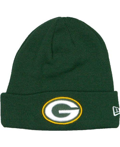 New Era Green Bay Packers Basic Cuff Knit Hat - Sports Fan Shop By ... e658bcf8aa0
