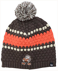 '47 Brand Women's Cleveland Browns Leslie Pom Knit Hat