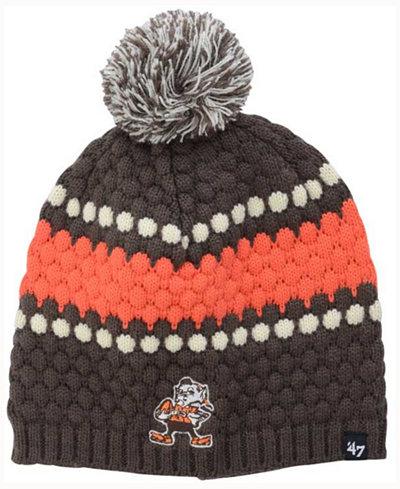 '47 Brand Women's Cleveland Browns Leslie Pom Knit Hat