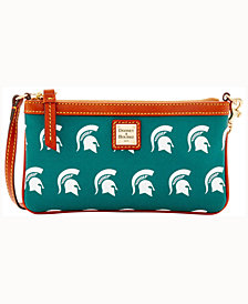 Dooney & Bourke Michigan State Spartans Large Slim Wristlet