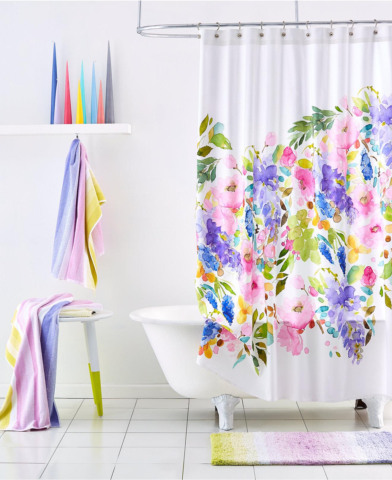 Vera bradley shower curtain - Bluebellgray Wisteria Bath Collection