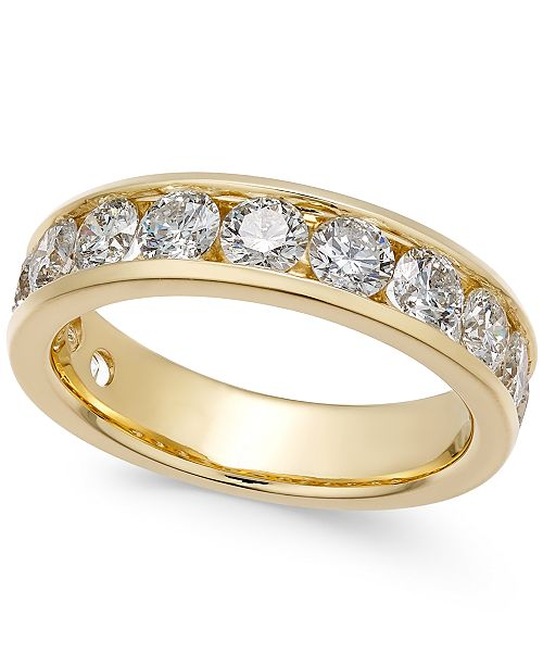 6f23f2933e Diamond Channel Band (2 ct. t.w.) in 14k Gold or White Gold
