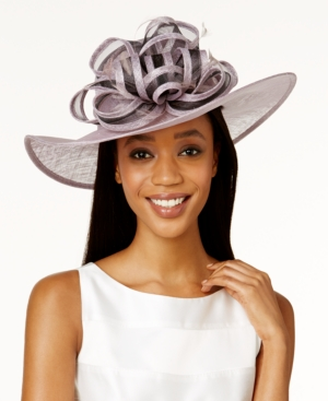 Retro Vintage Style Hats August Hats Gardenia Wide Brim Hat $128.00 AT vintagedancer.com